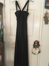 WINDSOR Black Cross Front Halter Sexy Black Dress Fitted Size 5/6 NWT!
