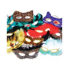 Assorted Feather Masks (12 Pack) Masquerade Mardi Gras Eye Masks 1 Dozen