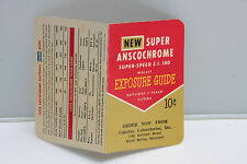 Ansco Super AnscoChrome Wallet Exposure Guide Colorfax Labs English - USED B103