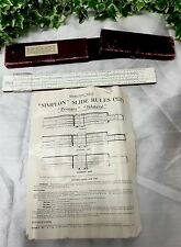 SIMPLON SLIDE RULE SR10 BILATERAL RIETZ SYSTEM PAT 413308 ORIGINAL BOX AND INSTR
