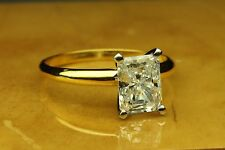 ENGAGEMENT SOLITAIRE RING 2.00 CT RADIANT CUT 14 KARAT YELLOW GOLD
