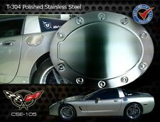 C5 Corvette Racing Style Brushed Stainless Steel Gas Fuel Door Cover 1997-2004