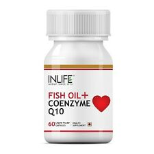 INLIFE Fish Oil Omega 3 With Coenzyme Q10,60 Capsules For Cardio & Sexual Health