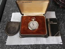 VINTAGE c1920 WALTHAM 14k SOLID GOLD OPEN FACE POCKET WATCH IN ORIGINAL BOX
