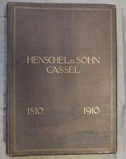 Antik großes Buch Henschel & Sohn Kassel Lokomotive 1910 viele Bilder Eisenbahn