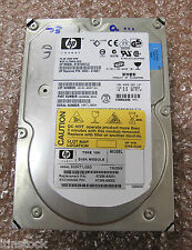 "HP 3.5"" 73GB 10k HOT SWAP Ultra~320 SCSI Hard Drive HDD, No Caddy, 9X3006-054"