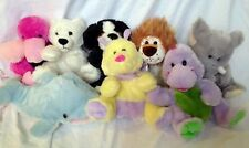 Kelly Toy LOT of 8 PUPPET Plush Animals DOLPHIN BEAR DOG LION DINOSAUR FLAMINGO
