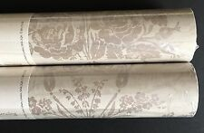 Laura Ashley Josette Truffle wallpaper rolls wall Covering - 12 Available New