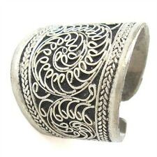 Large Beautiful Vintage Adjustable Tibetan Delicate Lotus Filigree Amulet Ring