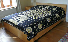 Indian Double Bedspread Elephant Throw Bed Cover Printed Wall Hanging Bedding