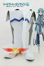 New SAO Sword Art Online Ⅱ2 Asuna Yuuki Cosplay Shoes Boots Custom Made B2277
