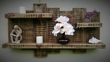 Shelf display wall unit shelves dark oak 3 feet 6 inches x 2 feet rustic wood