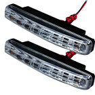 2pcs/pair 12V DC Car Daytime Running Light 8 LED DRL Daylight Head Lamp Super