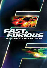 FAST & FURIOUS 6 MOVIE COLLECTION 1 2 3 4 5 6 DVD WITH SLIPCOVER FIVE