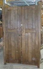Antique Mexican Mesquite Doors Pair-Vintage-Primitive-Rustic-Wood-41x71x2-Heavy