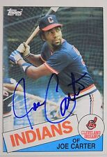 Joe Carter Indians Blue Jays Padres Autographed 1985 Topps #694 Signed Card 16L