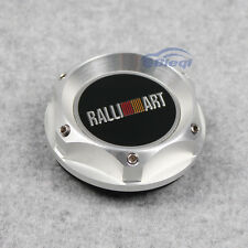 RALLIART Racing Silver Engine Oil filler Caps Tank Cover Fit For Mistubishi