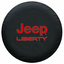 Spare Tire Cover Series Jeep Liberty Tire Cover Hot RED Logo On 35mil HD Vinyl