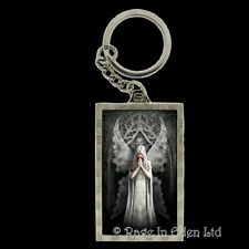*ONLY LOVE REMAINS* Goth Fantasy Angel Skull Art 3D Keyring By Anne Stokes