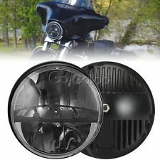 """7"""" Motorcycle Projector Daymaker HID LED Bulb Headlight For Harley Davidson"""