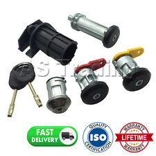 LOCK SET OF 4 LEFT RIGHT DOORS BOOT IGNITION + 2 KEYS FOR FORD FIESTA MK4 89-02