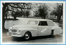 """12 By 18"""" Black & White Picture 1947 Lincoln Continental Convertible Top Up"""