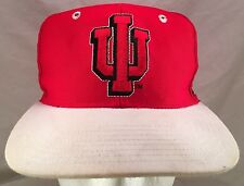 Vintage Indiana Hoosiers IU Logo The Game Fitted  Hat Size 6 7/8 Green Underbrim