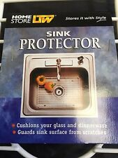 New Sink protector white 40.5cm x 30.5cmx 2.5cm laundry kitchen metal pvc coated