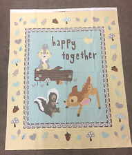 BAMBI AND FRIENDS DISNEY QUILT PANEL SPECIAL OFFER £10! 100% COTTON