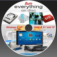 DVD CD COPY BURNING SOFTWARE- BURNER PROGRAM - WINDOW (XP,VISTA,7,8,8.1,10)