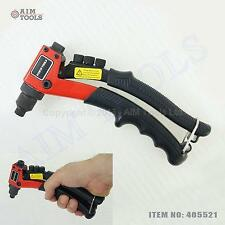 "8"" Heavy Duty Hand Riveter Rivet Gun Riveting Tools, 2.4-4.8MM 4 Nozzles 405521"