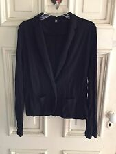NWOT Victoria's Secret Famous Catalog Black Slub Knit Casual Blazer XS