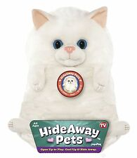 "Jay At Play 15"" Hideaway Pets Stuffed Animal White Persian Kitten Kitty Cat NEW"