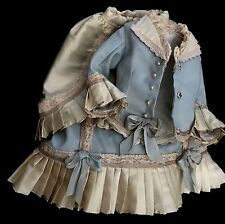 "Fashion Doll Dress Antique Style Fine Vintage Cotton Fashion Set for 18"" Doll"