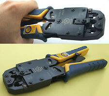 Cable Crimper Tools for RJ45 Ethernet & RJ11 Ratchet Modular Phone crimping tool