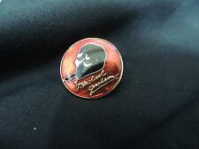 Vintage MICHAEL JACKSON Enamel Rock Music Pins Lapel Button Red 1980's