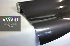 VViViD8 Gloss carbon fiber black tech art 3d 15 x 5ft Vinyl Roll wrap +3mil car