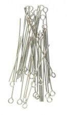 400 x 40 mm SILVER PLATED Eye Pin gioielli artigianali risultanze GRATIS UK P+P