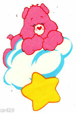 """6"""" CARE BEARS ON A CLOUD LOVE-A-LOT GLOW IN THE DARK FABRIC APPLIQUE IRON ON"""