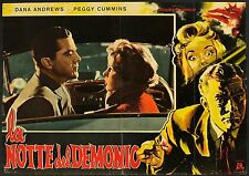 FOTOBUSTA, LA NOTTE DEL DEMONIO Night of the Demon J.TOURNEUR, HORROR POSTER