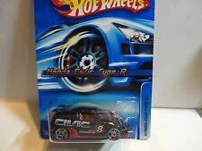 2006 Hot Wheels #133 Black Honda Civic Type R w/PR5 Wheels