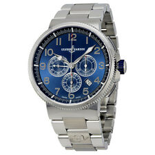 Ulysse Nardin Marine Chronograph Metallic Blue Dial Stainless Steel Mens Watch
