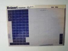 Yamaha TDR 125_1993 Microfilm Catalogue des pièces Pièce rechange Liste