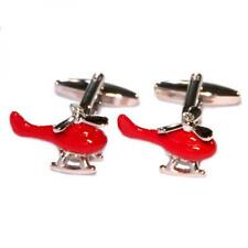 Red Helicopters CUFFLINKS Pilot Rescue RAF Air Ambulance Man Birthday Present