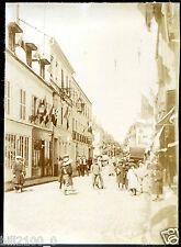 Sennecey-le-grand . jour de fête rue Nationale Août 1904. photo ancienne