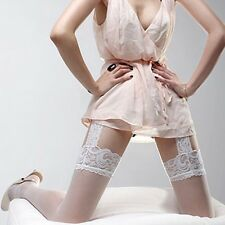 Women Leggings Lace Top Socks with Garter Belt  Stockings Thigh-Highs