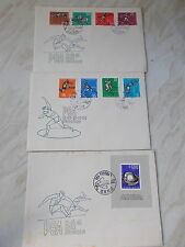 Set of 3 First day Covers For The 1962 European Athletic Championships -Belgrade