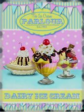 ICE CREAM PARLOUR DAIRY SEASIDE BEACH HOLIDAY TIN SIGN METAL PLAQUE WALL ART 93