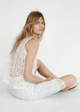 NWT Madewell Geo Lace Eyelet Tank Crochet Panel Cutout Blouse Top Size Small
