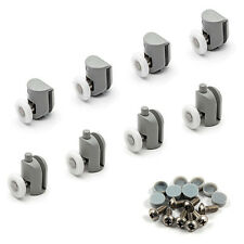 8 x Single Shower Door Rollers/Runners/Wheels TOP & BOTTOM Bathroom 23MM